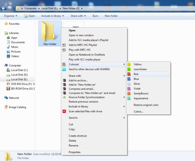 Slik endrer du fargen på mapper i Windows