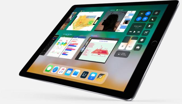 iOS 11 nye iPad Dock.