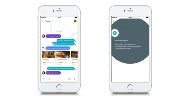 Google Allo iPhone hvit 2