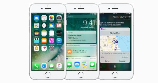 Hastighetstest iOS 10.1, iOS 10.0.2 og iOS 9.3.5.