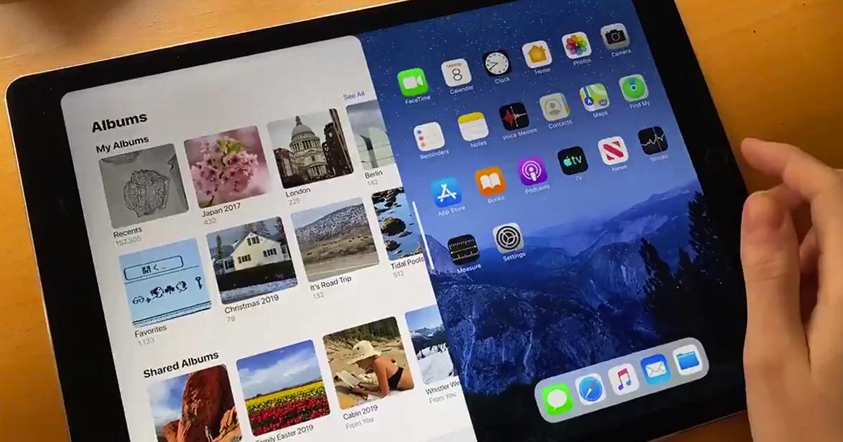 ipadOS 14 multitasking-konsept