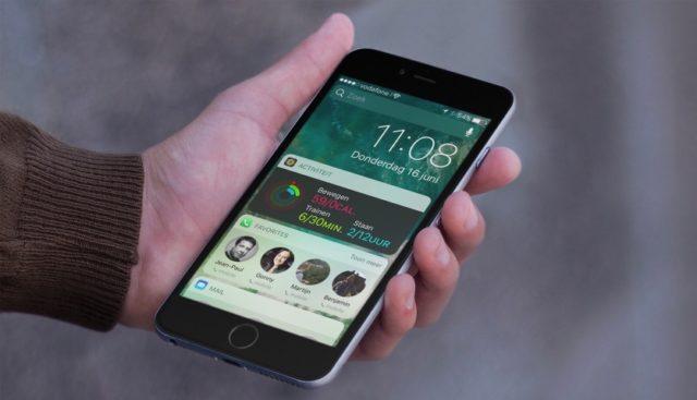 iOS 10 på en iPhone