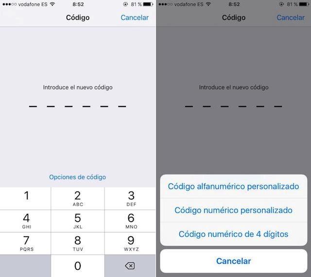 Alfanumerisk kode iOS