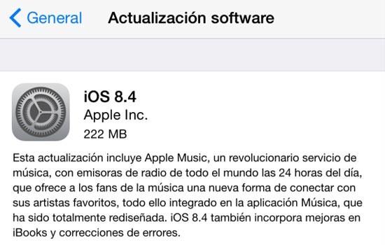 Oppgrader til iOS 8.4