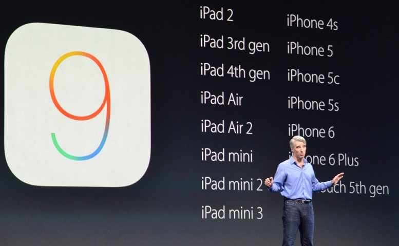 Oppdater iPad og iPhone til iOS 9