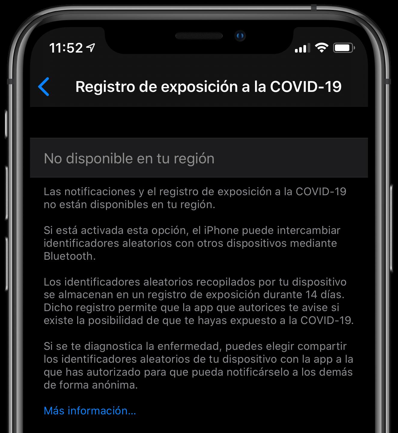 covid-19 iOS iPhone-eksponering
