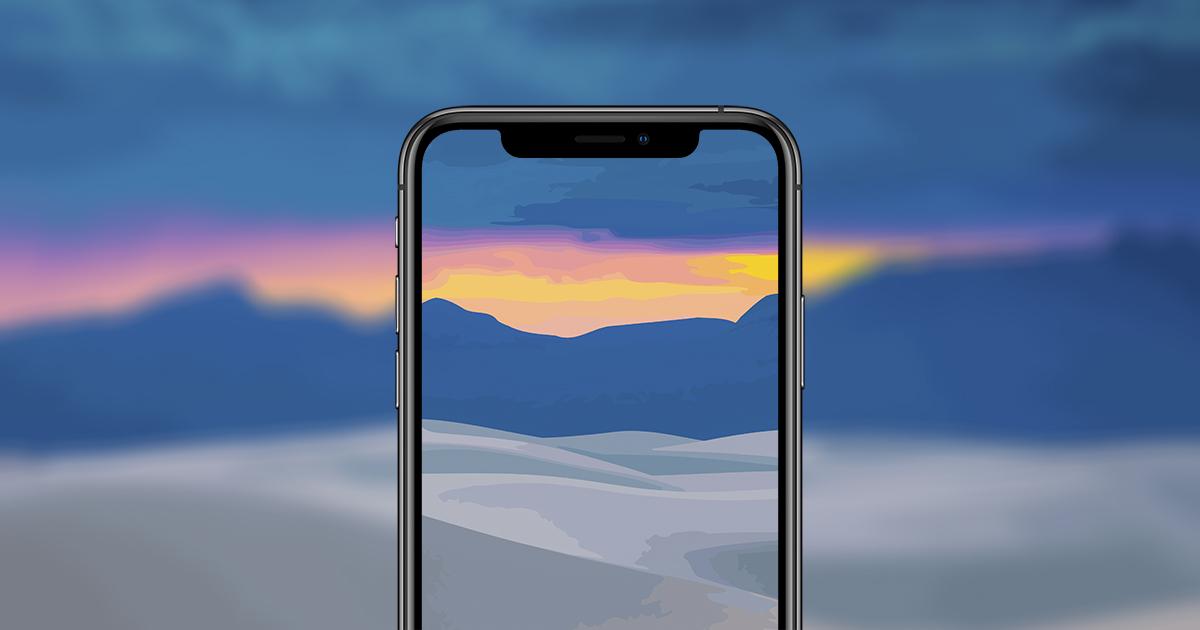 vektor landskap iPhone bakgrunner
