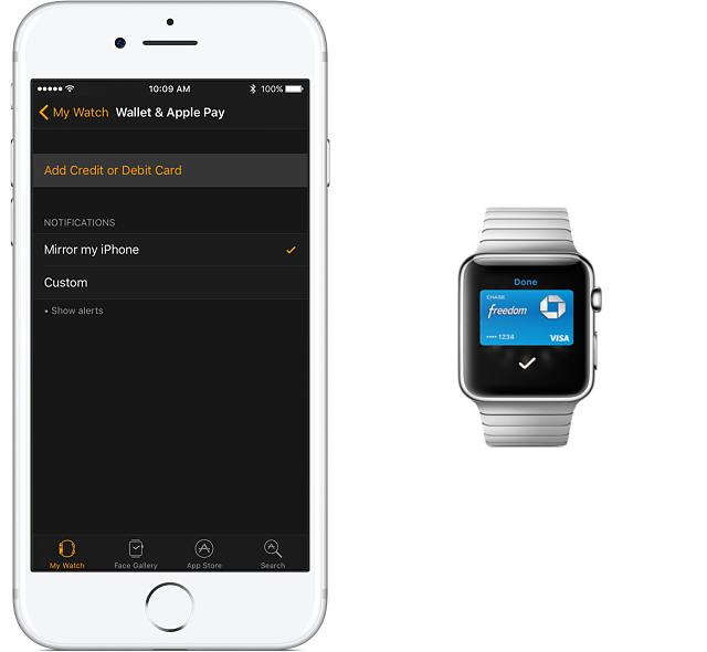 Setter opp Apple Pay på Apple Watch