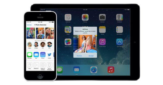 airdrop del bilder ipad iphone