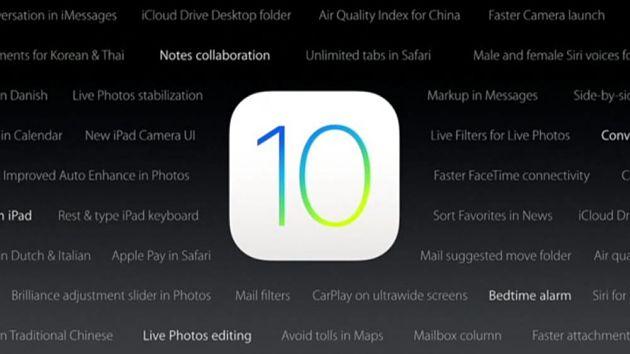 Noen av funksjonene til iOS 10