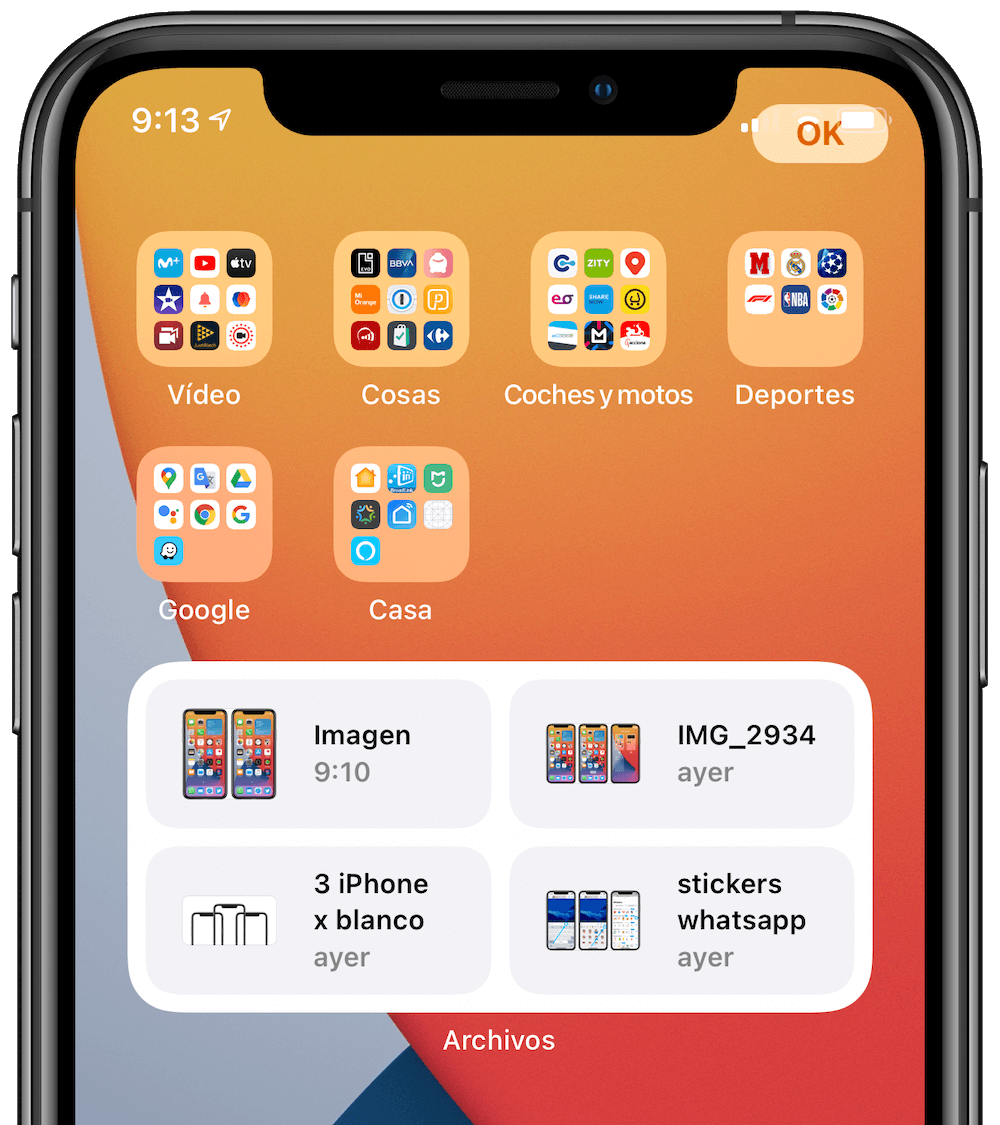 ios 14 filer widget